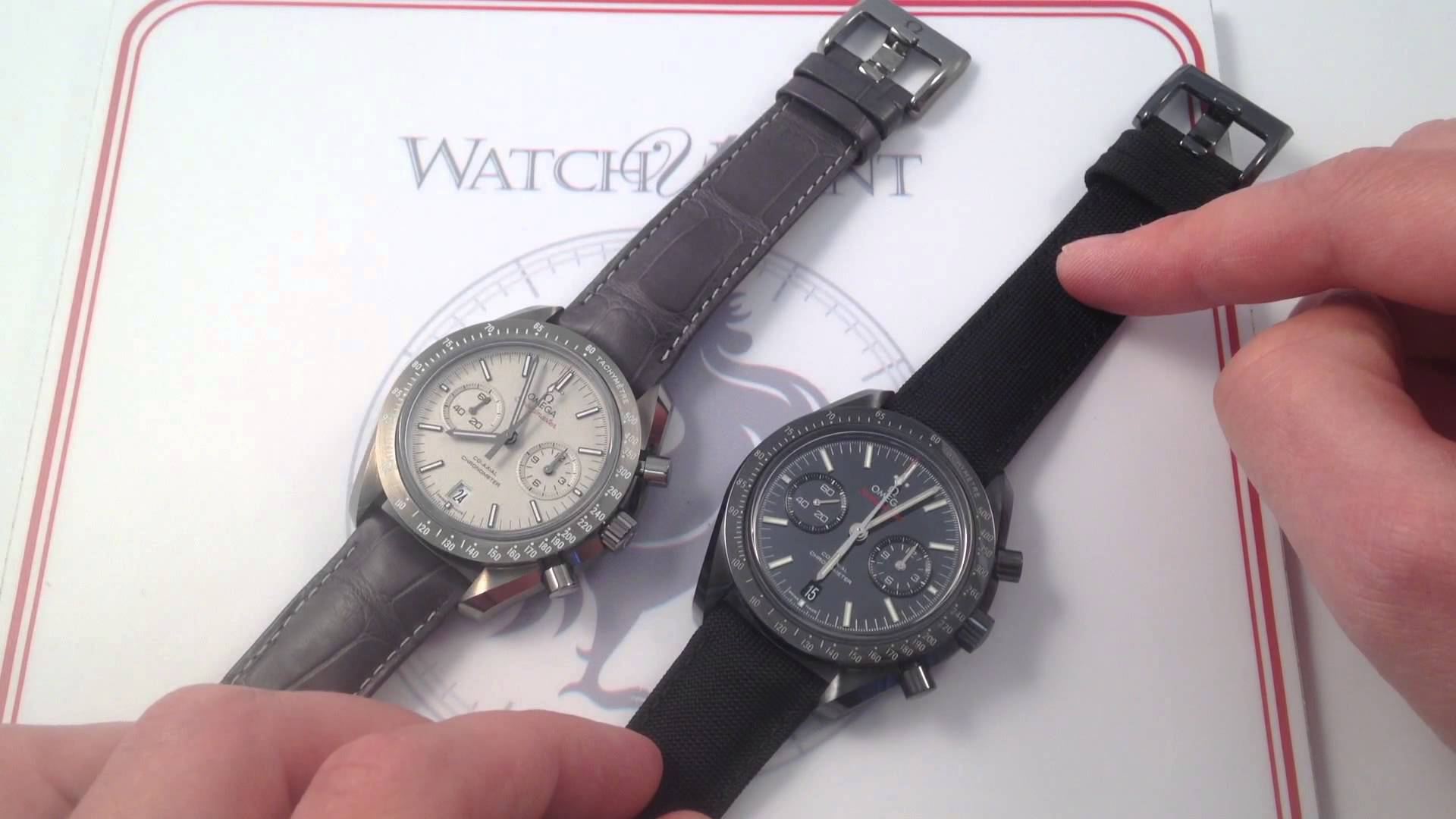 Omega Speedmaster: Dark Side vs. Grey Side of The Moon Ceramic Showdown