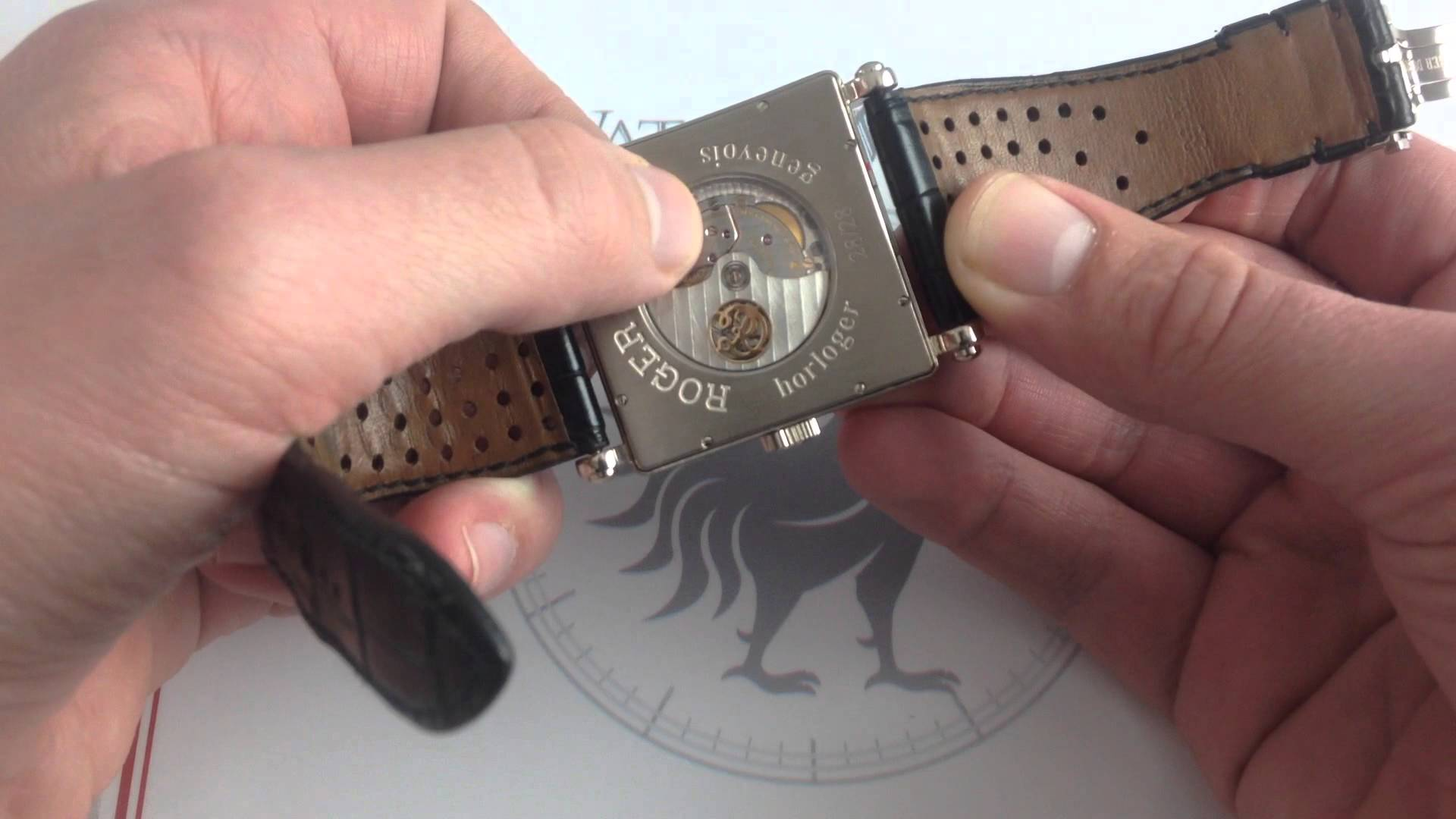 Roger Dubuis 18K Golden Square Perpetual Calendar: All That, Plus a Lapis Moonphase…