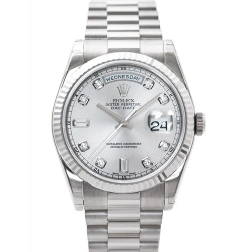 "Rolex Oyster Perpetual Day-Date: White Gold, Diamonds, and ""Presidential"" Presence"